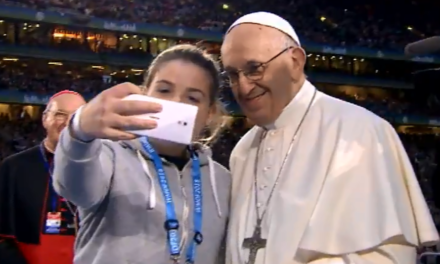 A Pope that enchants people, especially young people.